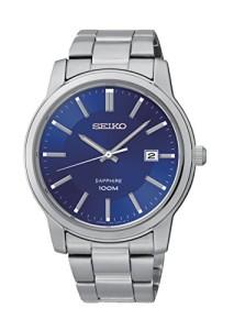 Seiko Herrenuhr SGEH03P1 mit blauem Zifferblatt und Datum