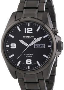 Schwarze Seiko Herrenuhr SMY139P1 mit Kinetic-Antrieb