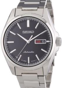 Seiko Herren-Armbanduhr SRP467J1 mit poliertem Edelstahlgehäuse und Automatik-Uhrwerk