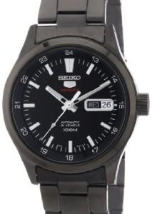 Schwarze Herren-Armbanduhr Seiko 5 Sports SRP267K1