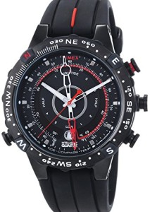 Schwarze Herrenuhr Timex Adventure Tide Temp Compass T2P140