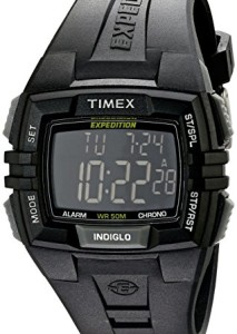 Schwarze Digitaluhr Timex Full Pusher CAT T49900