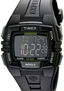Schwarze Digitaluhr Timex Full Pusher CAT T49900