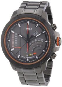 Schwarz-graue Timex IQ Indicator Chrono T2P273