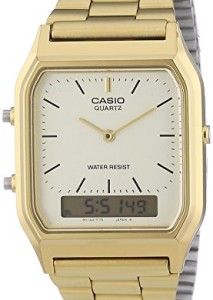 Goldene Herrenuhr Casio Collection AQ-230GA-9DMQYES