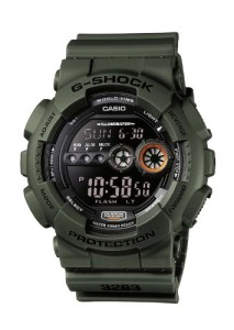 Olivgrüne Casio G-Shock GD-100MS-3ER