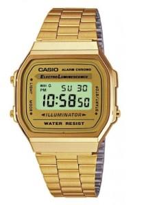 Goldene Retro-Uhr A168WG-9WDF