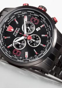 Toller Herren-Chronograph mit schwarzem Gehäuse und Armband - Detomaso Auriona für Herren