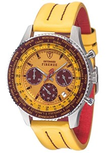 Gelb-Brauner Herren-Chronograph Detomaso Firenze Style SL1624C-YB