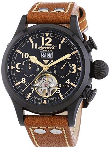 Ingersoll Herren-Armbanduhr XL Bison N0.18 IN4506BBK