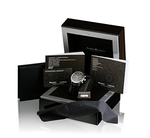 Schwarze Uhrenbox mit Anleitung und Originalpapiere von Maurice Lacroix