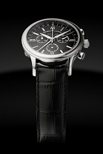 Eleganter Herren-Chronograph in Schwarz und Silber von ML