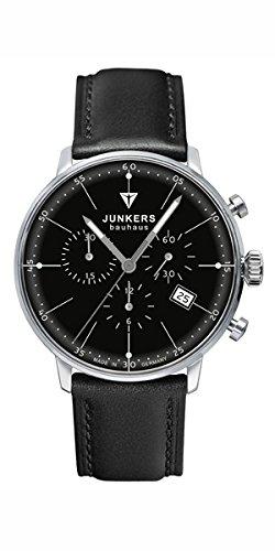 Junkers Bauhaus 6088-2 Schwarzer Herren-Chronograph