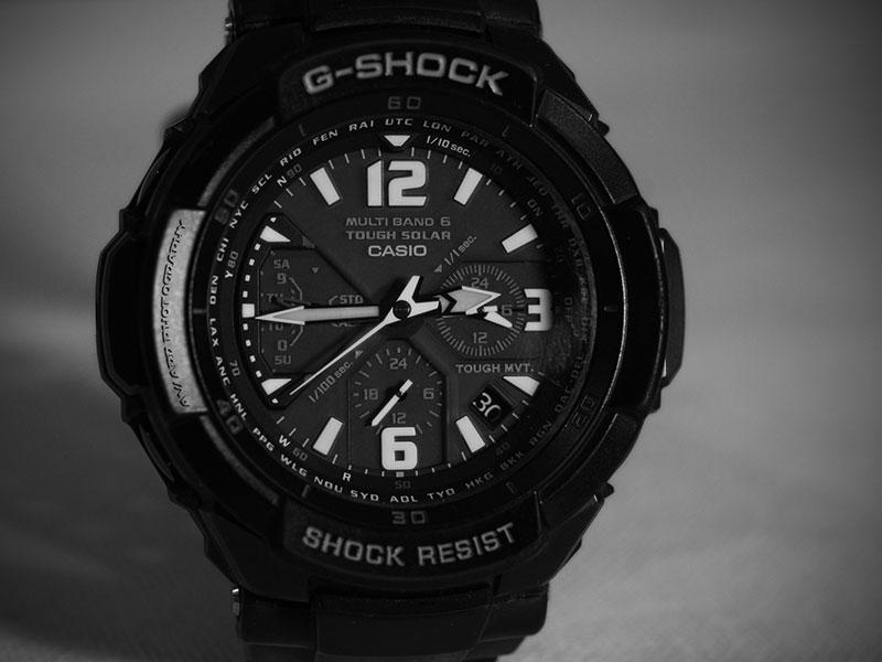 Schwarze Casio G-Shock