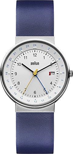 Braun Classic BN0142WHBLG - Blau-Silberne Herrenuhr