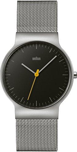 Braun Unisex-Armbanduhr BRAUN CLASSIC SLIM WATCH BN0211BKSLMHG