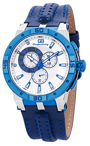 Grafenberg GB202-183 Herren-Chronograph in Blau