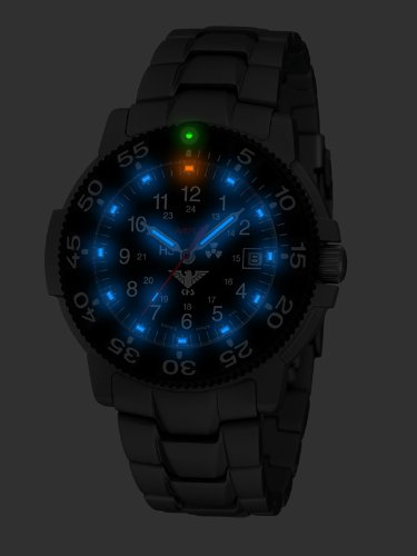 KHS Commander Titan H3 Uhr - Blue - Titan-Armband