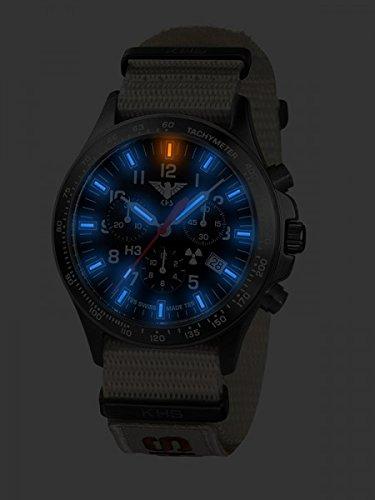 KHS Tactical Watches Black Platoon Chronograph C1 KHS.BPCC1.NXTLT5 Edelstahl IPB