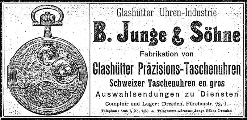 B. Junge & Söhne Anzeige