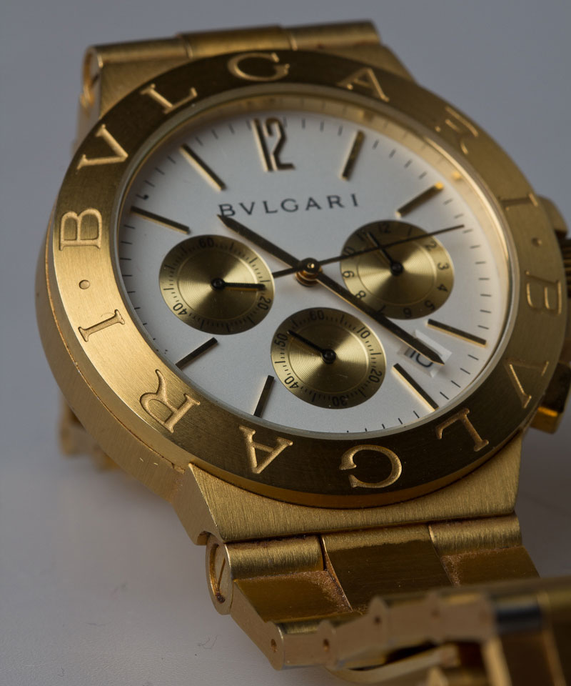 Goldene Bulgari Uhr
