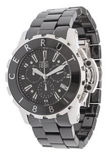 Cerruti Herren-Armbanduhr CRA078E229H mit Keramik-Armband und Lünette