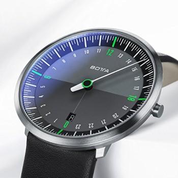 Botta-Design UNO 24 NEO Armbanduhr mit 24-Stunden-Anzeige