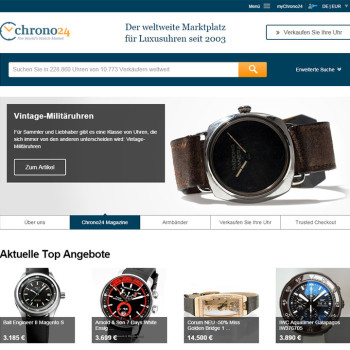 Chrono24 Website