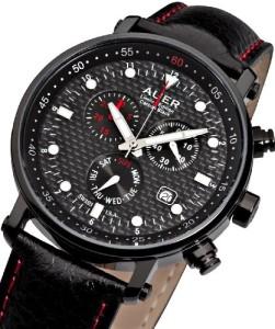 Urs Auer ZU-611 Carbon Black Chronograph für Ihn Streng Limitierte Auflage