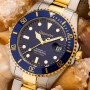 Gigandet Sea Ground G2-001 Taucheruhr in Blau-Gold