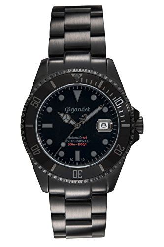 Gigandet Sea Ground G2-010 - Schwarze Taucheruhr