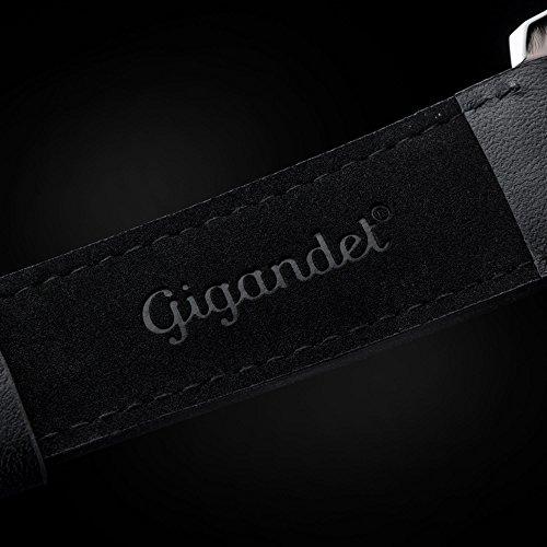 Schwarzes Lederarmband mit Gigandet-Logo