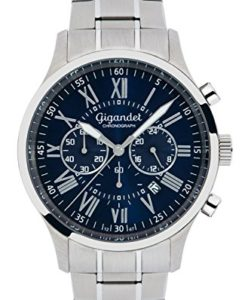 Gigandet Vernissage G47-001 - Blau-Silberner Chronograph
