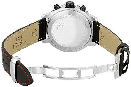 Lederarmband mit Faltschließe bei der Tissot Herren-Armbanduhr PRS 200