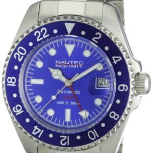 Nautec No Limit Deep Sea DS AT-GMT/STSTBLBL GMT-Uhr mit Automatik