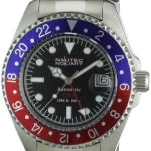 Nautec No Limit Deep Sea DS AT-GMT/STSTRDBLBK GMT-Uhr mit Automatik