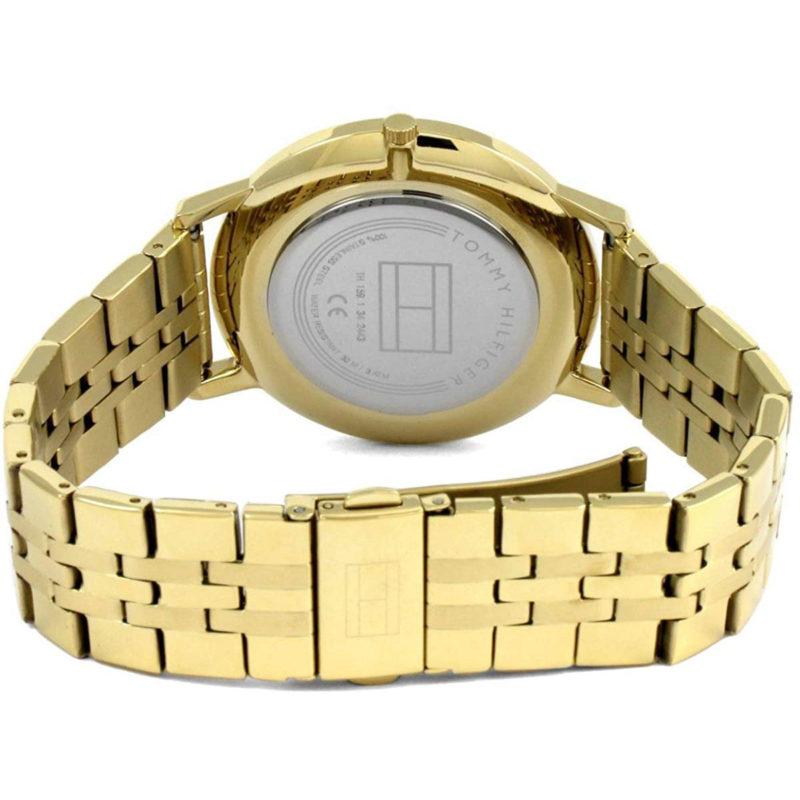 Goldenes Edelstahlarmband der Tommy Hilfiger Uhr
