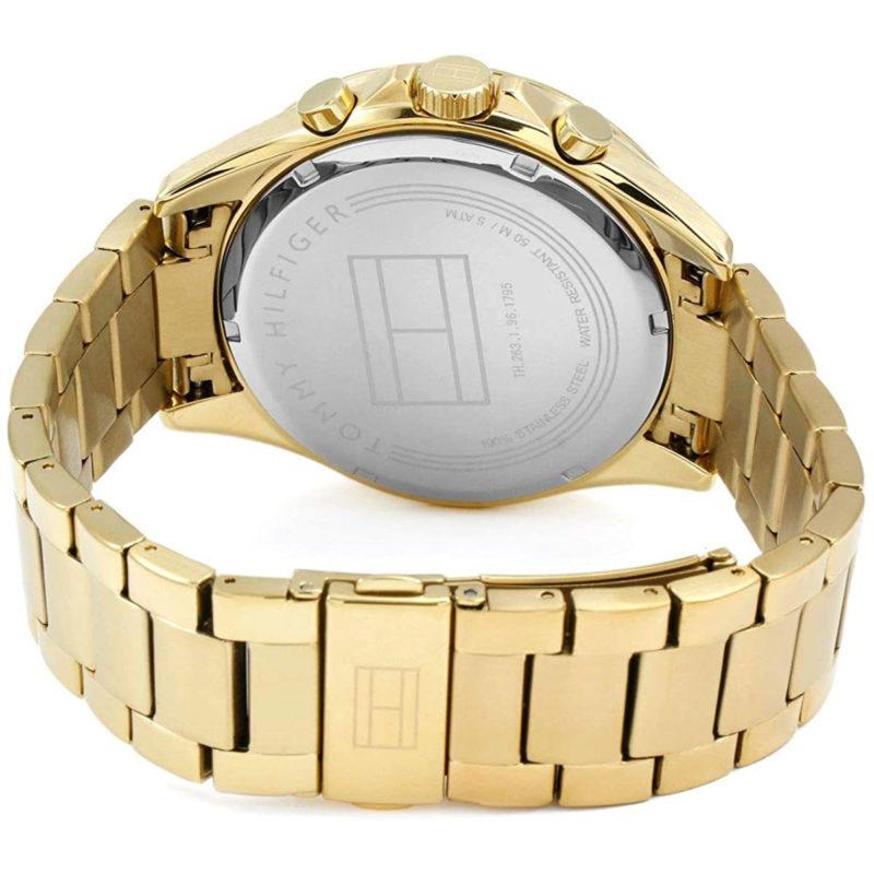 Goldenes Armband der Tommy Hilfiger Uhr