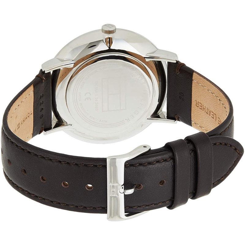 Braunes Lederarmband der Tommy Hilfiger Uhr