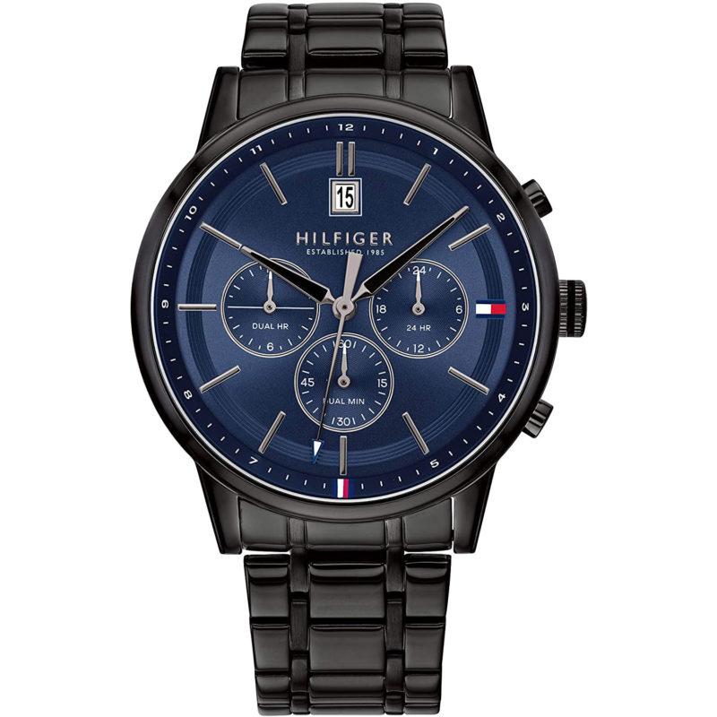 Schwarz-Blaue Tommy Hilfiger Uhr 1791633