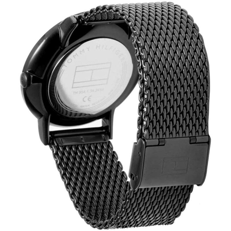 Schwarzes Milanaise-Armband mit Verschluß