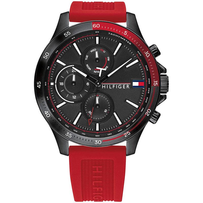 Schwarz-Rote Tommy Hilfiger Uhr 1791722