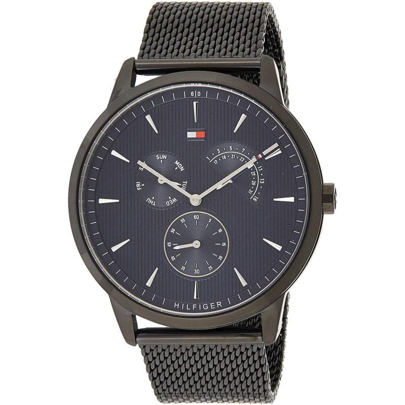 Schwarze Tommy Hilfiger Uhr 1710392