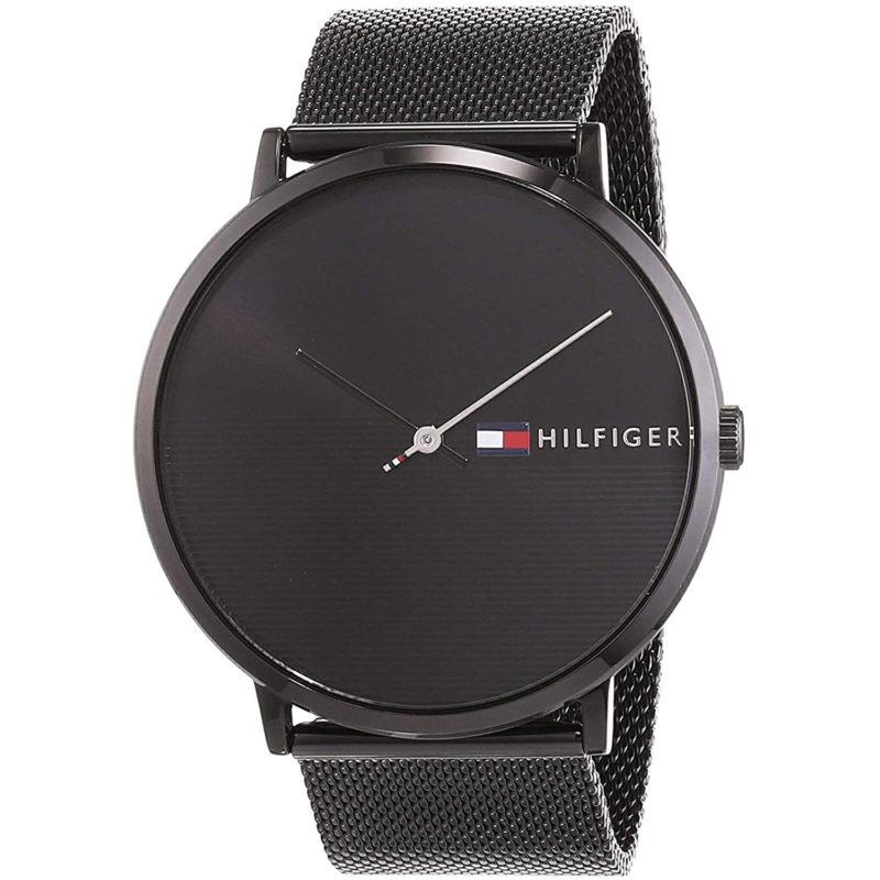 Schwarze Tommy Hilfiger Armbanduhr