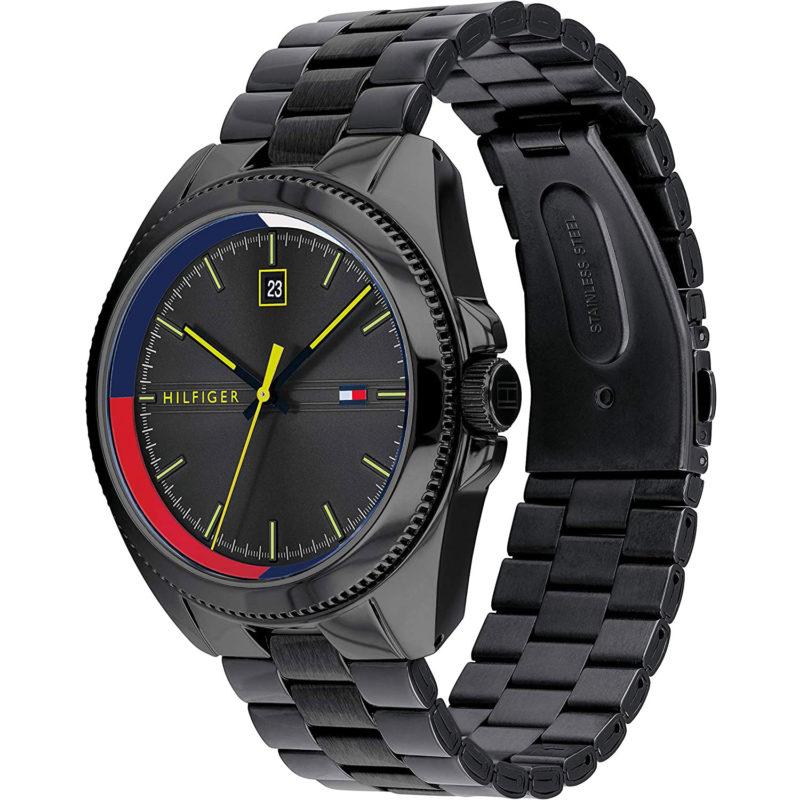 Schwarze Tommy Hilfiger Uhr