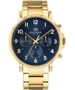 Goldene Tommy Hilfiger Uhr 1710384