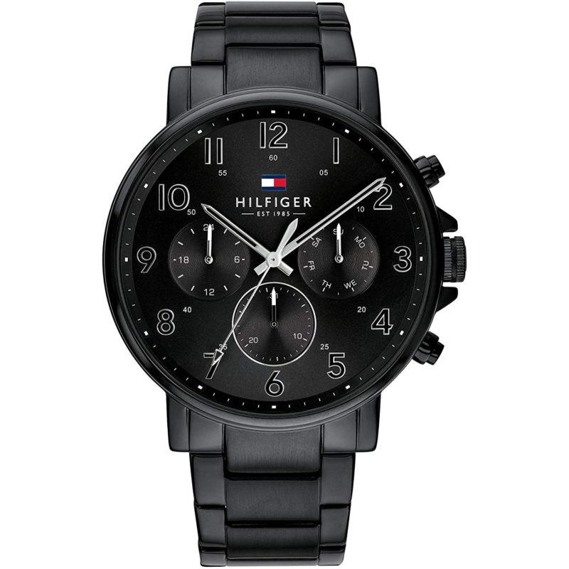 Schwarze Tommy Hilfiger Uhr 1710383