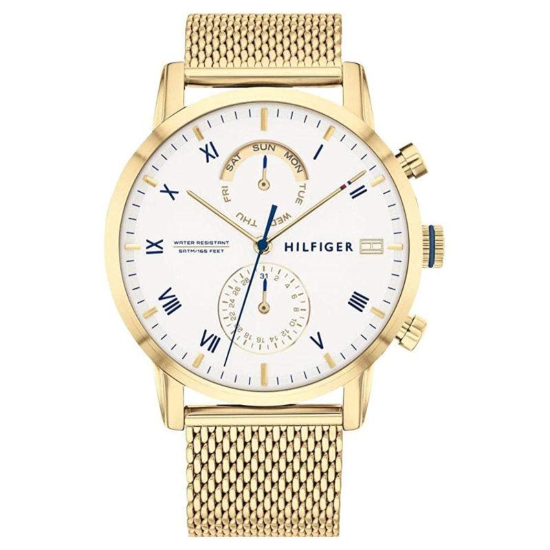 Goldene Tommy Hilfiger Uhr 1710403