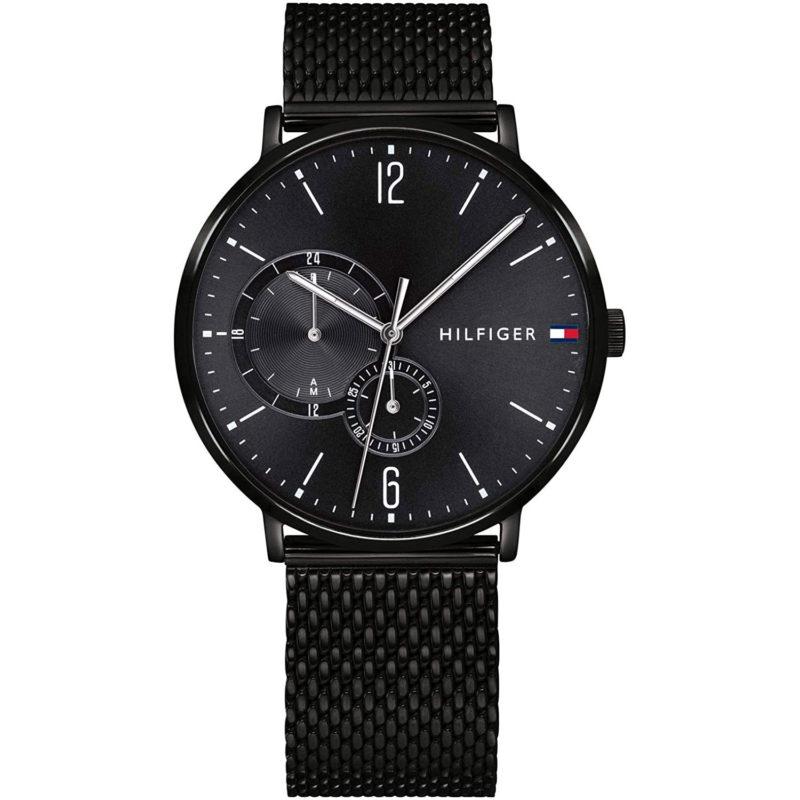 Schwarze Tommy Hilfiger Uhr 1791507