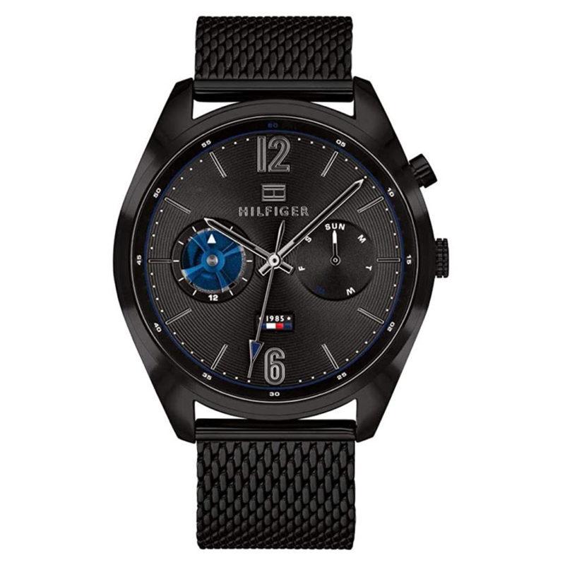 Schwarze Tommy Hilfiger Uhr 1791547